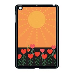Love Heart Valentine Sun Flowers Apple Ipad Mini Case (black) by Simbadda
