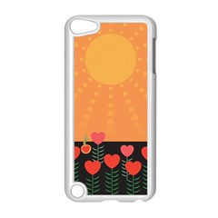 Love Heart Valentine Sun Flowers Apple Ipod Touch 5 Case (white) by Simbadda