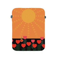 Love Heart Valentine Sun Flowers Apple Ipad 2/3/4 Protective Soft Cases by Simbadda