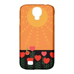 Love Heart Valentine Sun Flowers Samsung Galaxy S4 Classic Hardshell Case (pc+silicone) by Simbadda