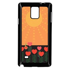 Love Heart Valentine Sun Flowers Samsung Galaxy Note 4 Case (black) by Simbadda
