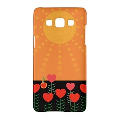 Love Heart Valentine Sun Flowers Samsung Galaxy A5 Hardshell Case  by Simbadda