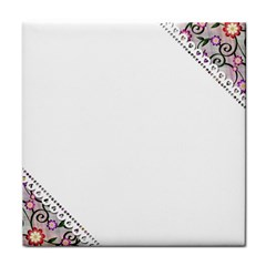 Floral Ornament Baby Girl Design Tile Coasters