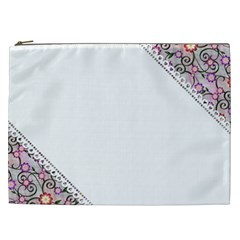 Floral Ornament Baby Girl Design Cosmetic Bag (xxl)