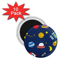 Space Background Design 1 75  Magnets (10 Pack)  by Simbadda