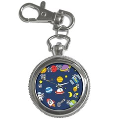Space Background Design Key Chain Watches by Simbadda