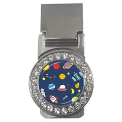 Space Background Design Money Clips (cz)  by Simbadda