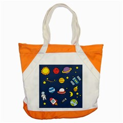 Space Background Design Accent Tote Bag by Simbadda