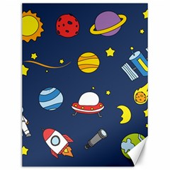 Space Background Design Canvas 12  X 16   by Simbadda