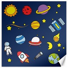 Space Background Design Canvas 20  X 20   by Simbadda