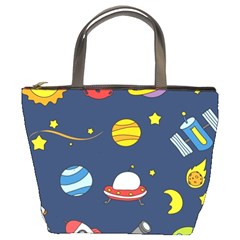 Space Background Design Bucket Bags