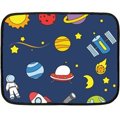 Space Background Design Double Sided Fleece Blanket (mini)  by Simbadda