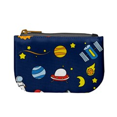 Space Background Design Mini Coin Purses by Simbadda