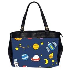 Space Background Design Office Handbags (2 Sides)  by Simbadda