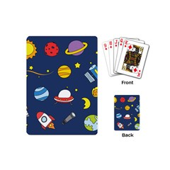 Space Background Design Playing Cards (mini)