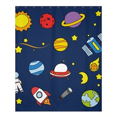 Space Background Design Shower Curtain 60  X 72  (medium)  by Simbadda
