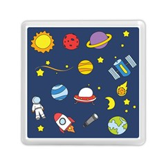 Space Background Design Memory Card Reader (square)