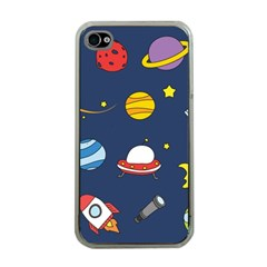 Space Background Design Apple Iphone 4 Case (clear) by Simbadda