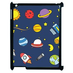 Space Background Design Apple Ipad 2 Case (black) by Simbadda