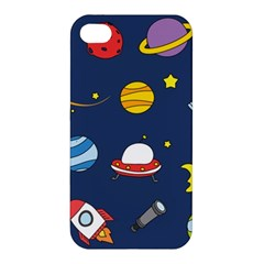 Space Background Design Apple Iphone 4/4s Hardshell Case