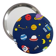 Space Background Design 3  Handbag Mirrors by Simbadda