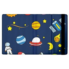 Space Background Design Apple Ipad 2 Flip Case by Simbadda