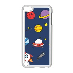 Space Background Design Apple Ipod Touch 5 Case (white) by Simbadda