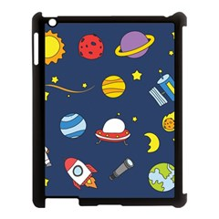 Space Background Design Apple Ipad 3/4 Case (black)