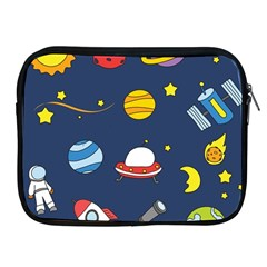 Space Background Design Apple Ipad 2/3/4 Zipper Cases by Simbadda