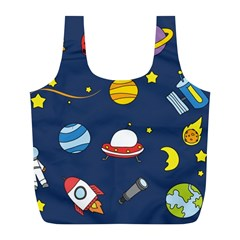 Space Background Design Full Print Recycle Bags (l)  by Simbadda