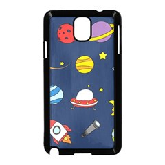 Space Background Design Samsung Galaxy Note 3 Neo Hardshell Case (black) by Simbadda