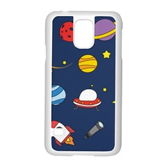 Space Background Design Samsung Galaxy S5 Case (white) by Simbadda