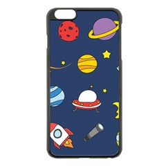 Space Background Design Apple Iphone 6 Plus/6s Plus Black Enamel Case by Simbadda