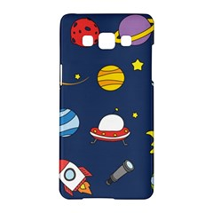 Space Background Design Samsung Galaxy A5 Hardshell Case  by Simbadda