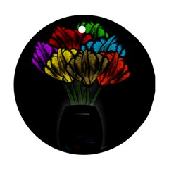 Flowers Painting Still Life Plant Ornament (round)