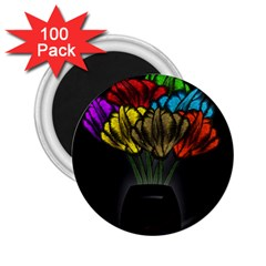 Flowers Painting Still Life Plant 2 25  Magnets (100 Pack)  by Simbadda