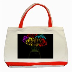 Flowers Painting Still Life Plant Classic Tote Bag (red) by Simbadda
