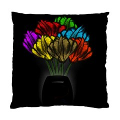 Flowers Painting Still Life Plant Standard Cushion Case (two Sides) by Simbadda