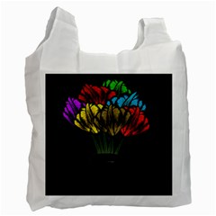 Flowers Painting Still Life Plant Recycle Bag (two Side)  by Simbadda