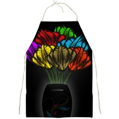 Flowers Painting Still Life Plant Full Print Aprons by Simbadda
