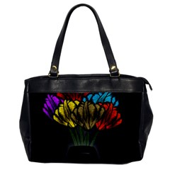 Flowers Painting Still Life Plant Office Handbags by Simbadda