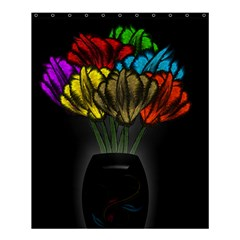 Flowers Painting Still Life Plant Shower Curtain 60  X 72  (medium)  by Simbadda
