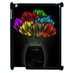 Flowers Painting Still Life Plant Apple Ipad 2 Case (black) by Simbadda