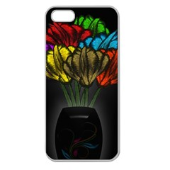 Flowers Painting Still Life Plant Apple Seamless Iphone 5 Case (clear) by Simbadda
