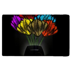 Flowers Painting Still Life Plant Apple Ipad 3/4 Flip Case by Simbadda