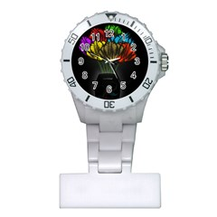 Flowers Painting Still Life Plant Plastic Nurses Watch by Simbadda