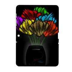 Flowers Painting Still Life Plant Samsung Galaxy Tab 2 (10 1 ) P5100 Hardshell Case  by Simbadda