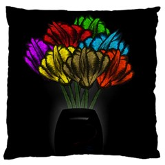 Flowers Painting Still Life Plant Standard Flano Cushion Case (two Sides) by Simbadda