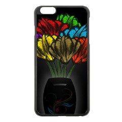 Flowers Painting Still Life Plant Apple Iphone 6 Plus/6s Plus Black Enamel Case by Simbadda