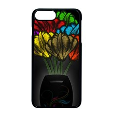 Flowers Painting Still Life Plant Apple Iphone 7 Plus Seamless Case (black) by Simbadda